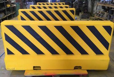 Betonnen Barrier 200x54x90 geel zwart