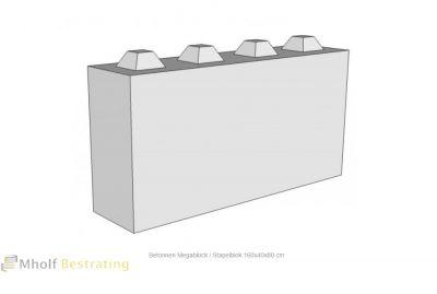 Betonnen Megablock - Stapelblok - Legioblok 160x40x80 cm