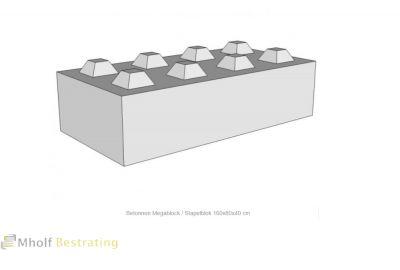 Betonnen Megablock - Stapelblok - Legioblok 160x80x40 cm