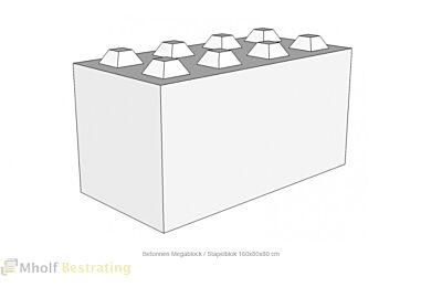 Betonnen Megablock - Stapelblok - Legioblok 160x80x80 cm (2)