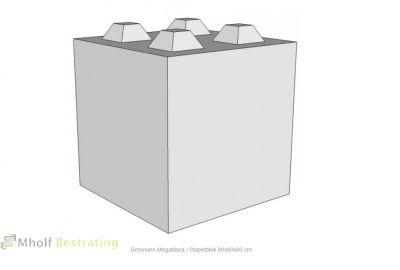 Betonnen Megablock - Stapelblok - Legioblok 80x80x80 cm