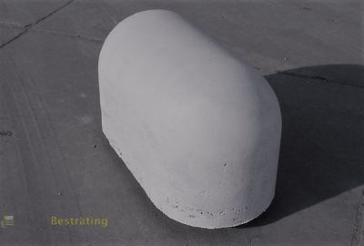 Jumboblok - Varkensrug Grijs - 90x45x48cm