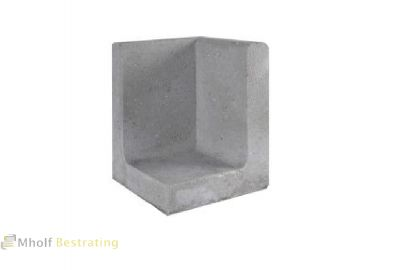 L-hoekelement 80x50x50cm Grijs