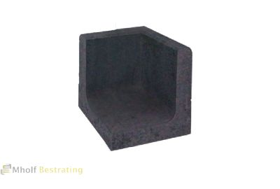 L-hoekelement 50x30x30cm Zwart