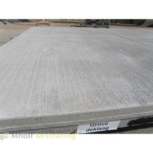 Gebezemde betonplaat 200x200x14cm C40/50 12,5 ton asdruk (Zeer stroef)