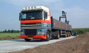 Transport en Plaatsing betonplaten